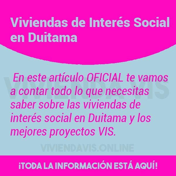 Viviendas de Interés Social en Duitama