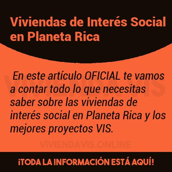 Viviendas de Interés Social en Planeta Rica